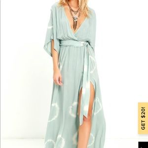 Long Live Love Sage Green Maxi Dress